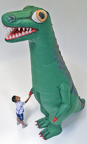GIANT INFLATABLE DINOSAUR COSTUME