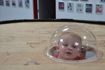 CUTE LITTLE BOY WITH ACRYLIC DOME