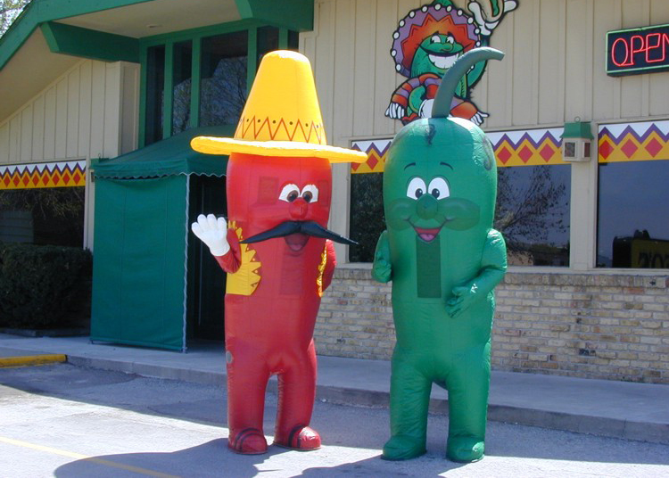 INFLATABLE CHILI PEPPER MASCOTS