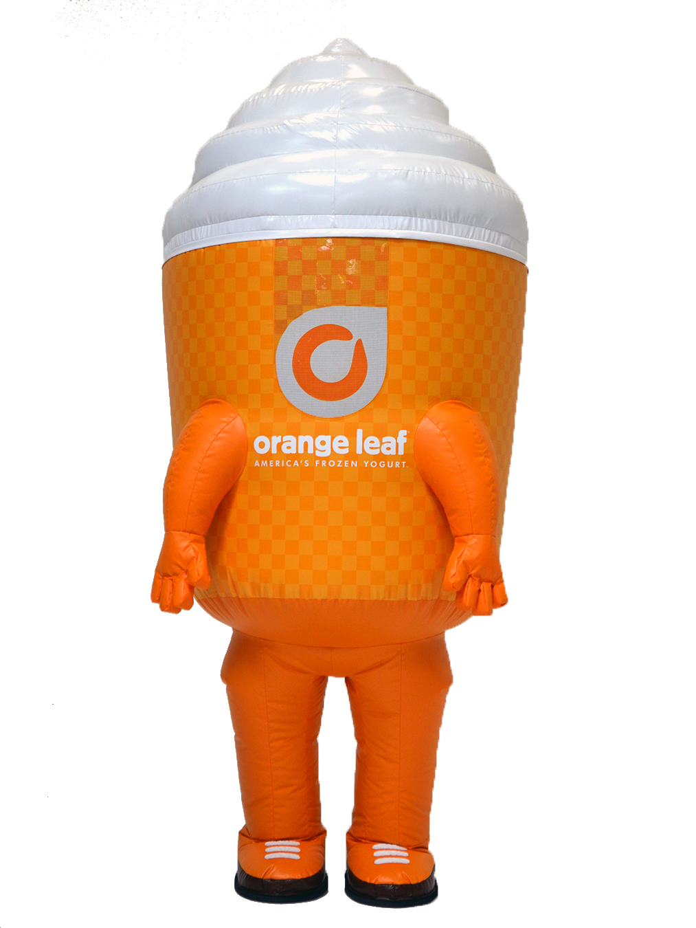 INFLATABLE ORANGE LEAF FROZEN YOGURT MASCOT