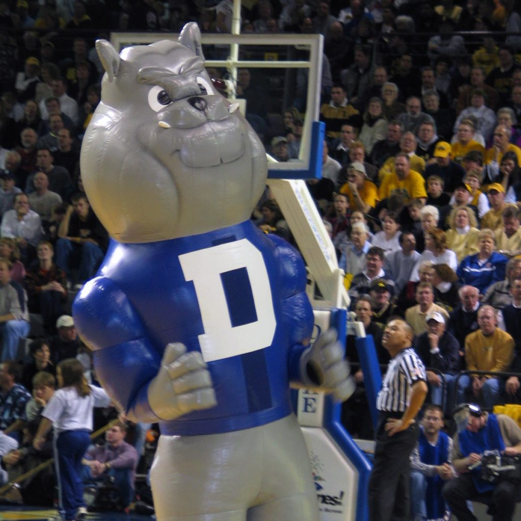 INFLATABLE BULLDOG MASCOT DRAKE UNIVERSITY