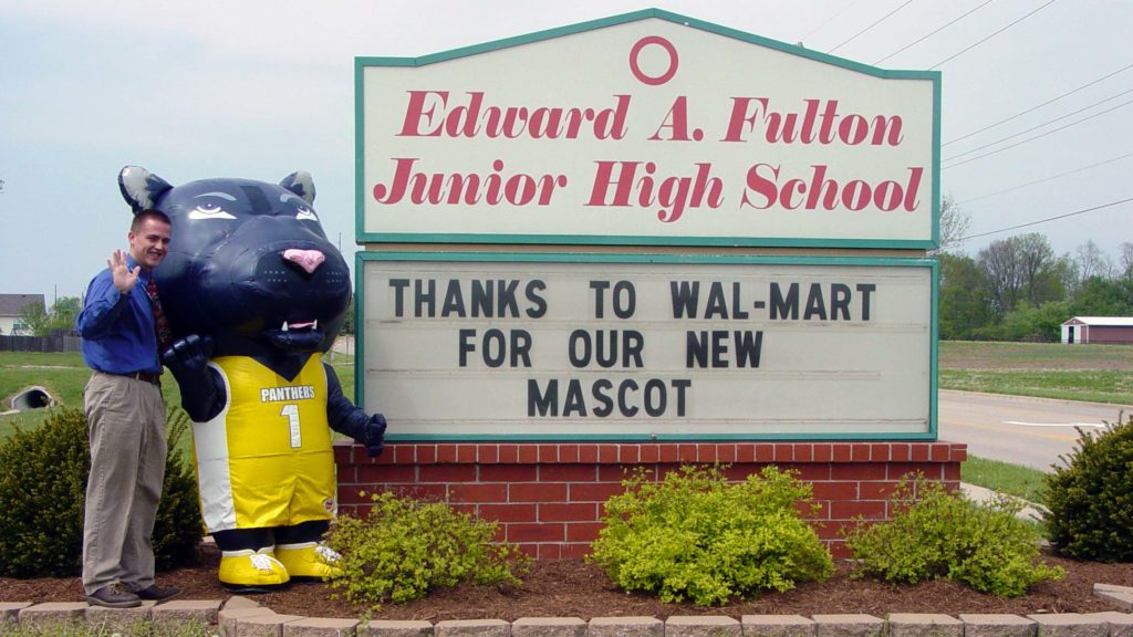 INFLATABLE PANTHERS HIGH SCHOOL MASCOT