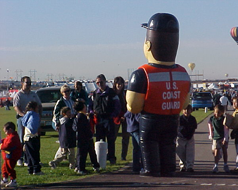 INFLATABLE COAST GUARD MAN COSTUME