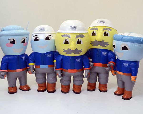 THE ELECTRIC COMPANY INFLATABLE MASCOTS