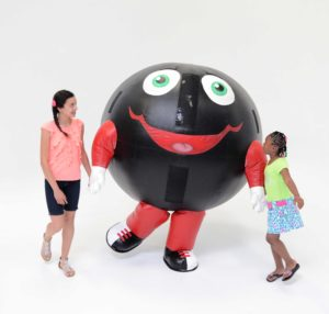 INFLATABLE BOWLING BALL MASCOT COSTUME