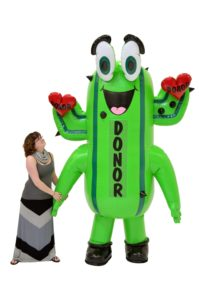 INFLATABLE CACTUS BLOOD DONOR COSTUME