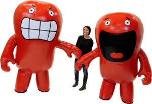 INFLATABLE RED MASCOTS