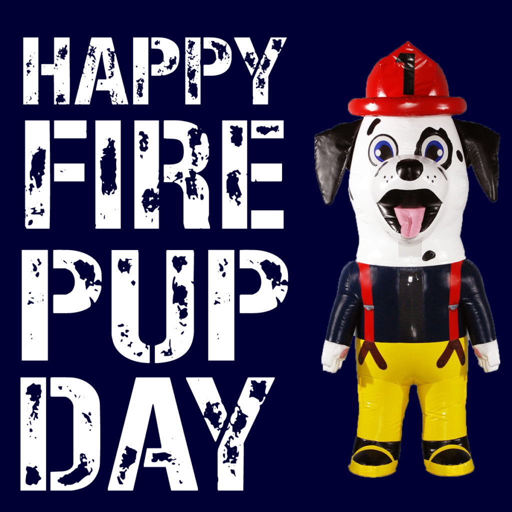 Fire Dog Inflatable Mascot