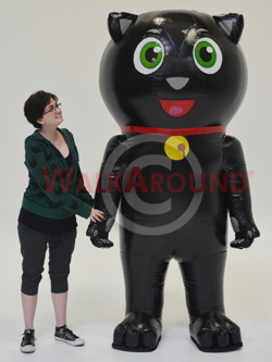 cute inflatable cat costume