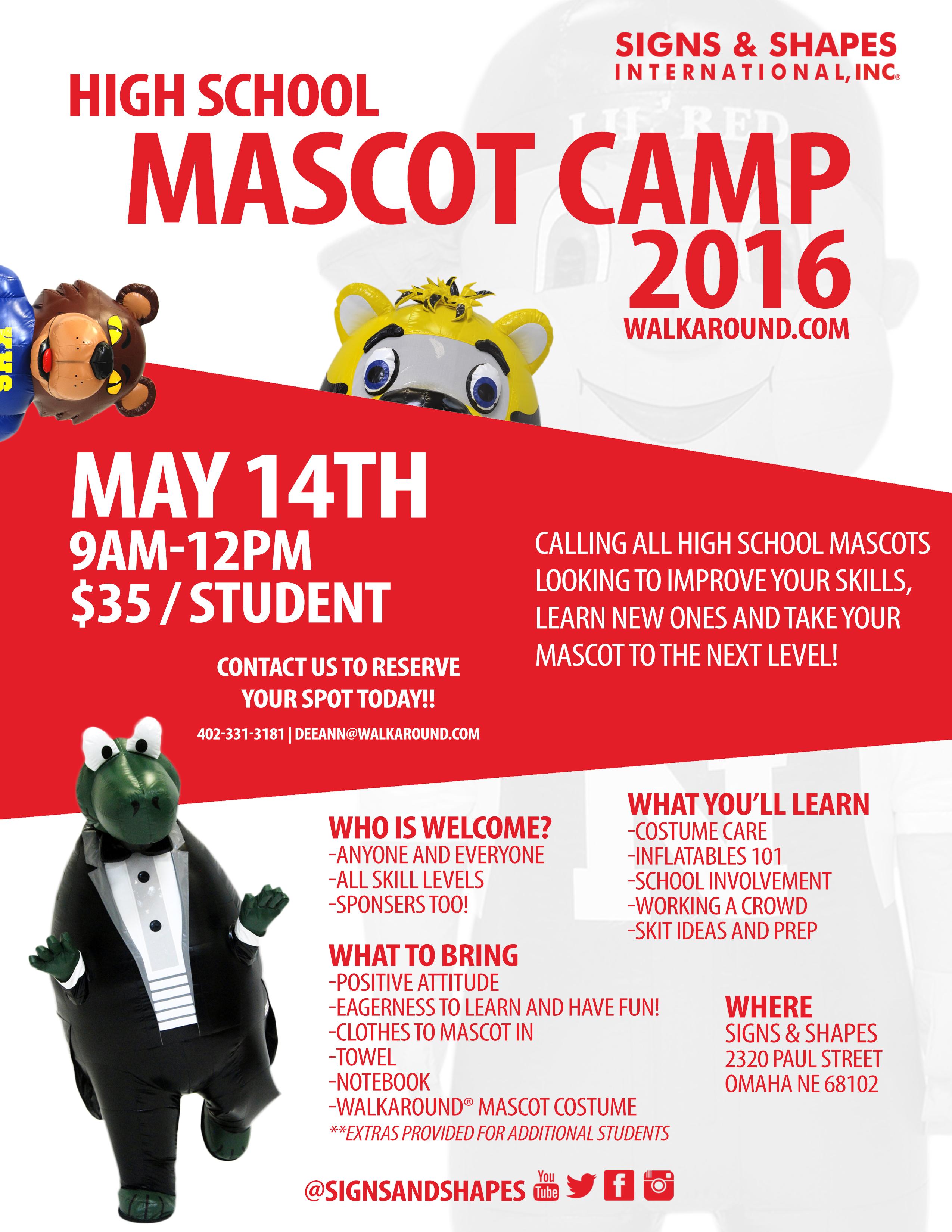 High School Mascot Camp 2016