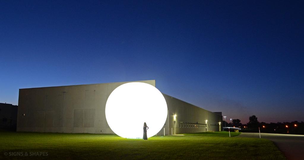 White Sphere Lighted