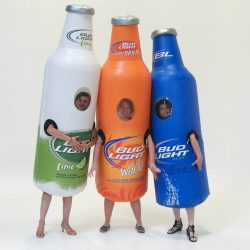 INFLATABLE BUD LIGHT BEER BOTTLE RACER COSTUMES