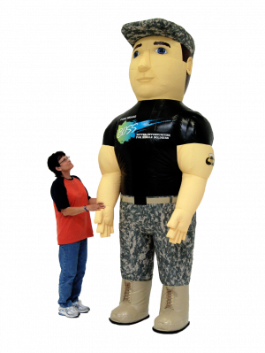 INFLATABLE FORT BRAGG SOLDIER MASCOT