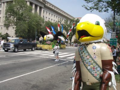 INFLATABLE BOY SCOUT EAGLE COSTUME