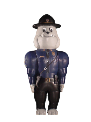 INFLATABLE STATE TROOPER BULLDOG COSTUME