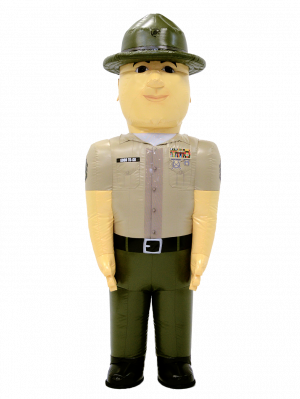 INFLATABLE ARMY DRILL INSTRUCTOR COSTUME