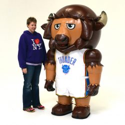 OKC THUNDER MINI RUMBLE BISON INFLATABLE MASCOT
