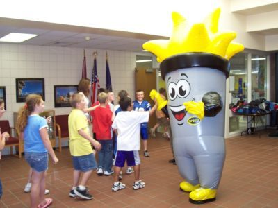INFLATABLE SPORTY TORCH COSTUME